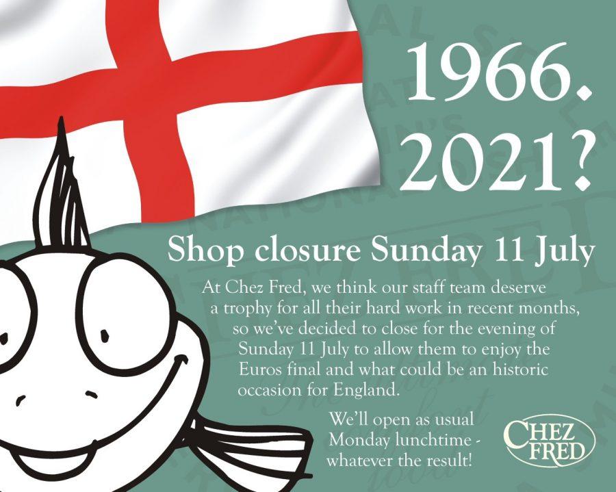 Shop closure Sunday 11th July